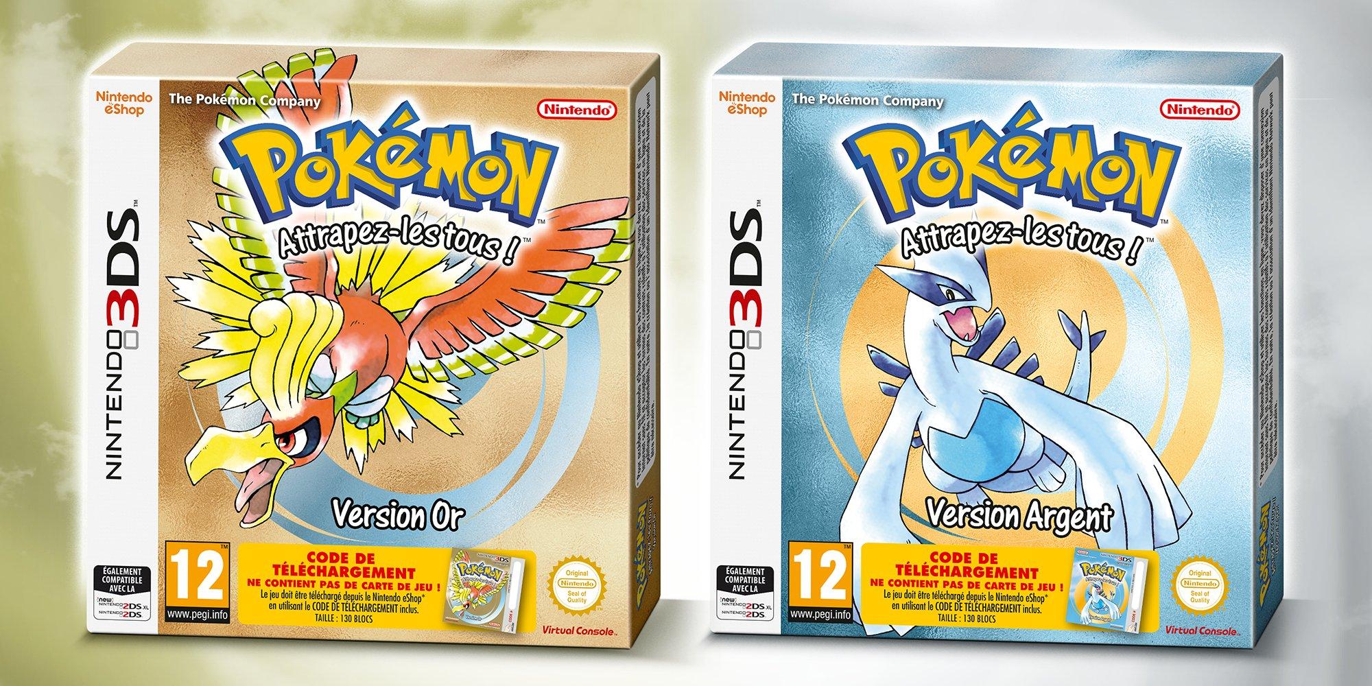 Une sortie physique pour pok mon or et argent sur 3ds - Jeux info pokemon ...