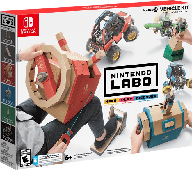 nintendo labo toy con 3 le kit v hicules annonc en vid o sur nintendo switch nintendo. Black Bedroom Furniture Sets. Home Design Ideas